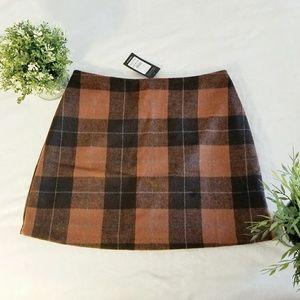 New Look Plaid Skirt
